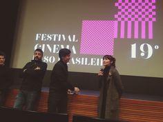 Luísa Sequeira na apresentação do filme Os cravos e a Rocha no festival de cinema Luso Brasileiro de Santa Maria da Feira