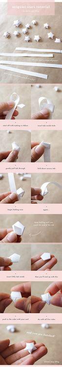 Origami petites étoiles