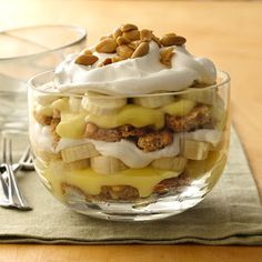 Banana Cream Pie-in-a-Bowl with Vanilla Wafers