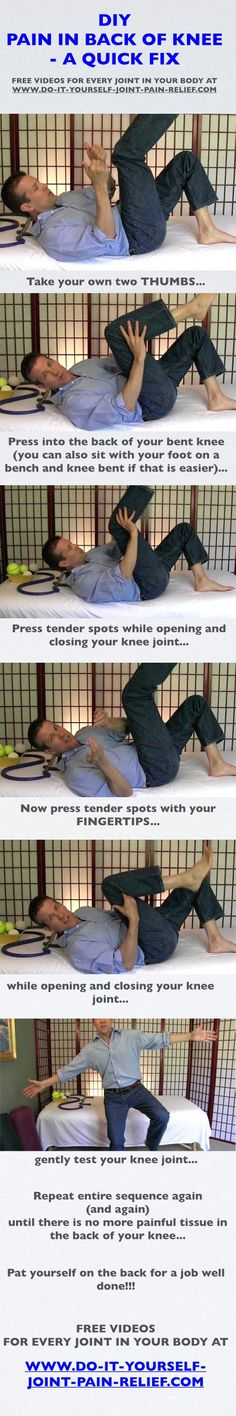 12 best diy joint pain relief images on pinterest stretching pain in back of knee a quick fix free follow along videos solutioingenieria Image collections