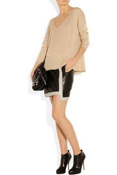 Helmut Lang|Evolution leather mini skirt|NET-A-PORTER.COM
