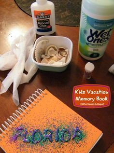 Kids Vacation Memory Books | Who Needs A Cape? #ad #pmedia #craftandcleanup