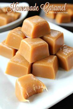 Homemade Caramel Recipes, Homemade Candies, Fudge Recipes, Candy Recipes, Sweet Recipes, Baking Recipes, Dessert Recipes, Homemade Caramels, Easy Microwave Recipes