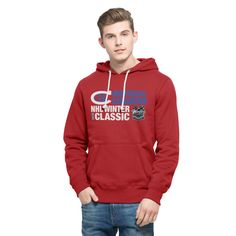 accafd1f29b NHL Montreal Canadiens  47 2016 Winter Classics Crosstown Striker Pullover  Sweatshirt - Red Nba Cleveland