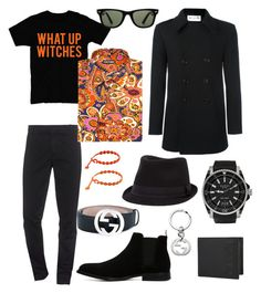 """Outfit 23"" by bagordocinzia on Polyvore featuring Kenzo, Tom Ford, Yves Saint Laurent, Gucci, ALDO, Cruciani, Ray-Ban, BKE, men's fashion e menswear"