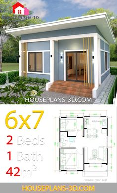 Simple Home Design Plans With Photos Simple House Plans With 2 Bedrooms Shed Roof House Plans 3 Bedrooms Home Design Plan Modern House Plans Simple Simple House Design Inspi. Simple House Plans, Simple House Design, Tiny House Plans, Modern House Plans, Tiny House Design, House Floor Plans, One Bedroom Flat, 2 Bedroom House Plans, Affordable House Plans