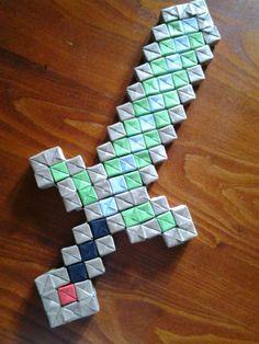 Origami Minecraft Sword