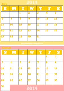 Free printable monthly 2014 calendar - 2014 Kalender - freebie | MeinLilaPark – digital freebies