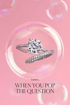 Make her Valentine's Day sparkle. Tiffany Novo® engagement ring and Tiffany Soleste® band ring in platinum.