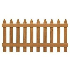 Pressure Treated Cedar Tone Moulded Fence   The Home Depot