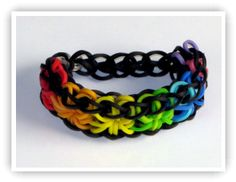 Bracelet patterns using a rubber band loom such as Rainbow Loom, Cra-Z-Loom and FunLoom