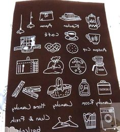 Fabric Iron On Patch Applique - Brown Food Cafe Coffee Bread Kitchen Fabric Iron On