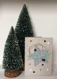 Stampin Up, Christmas card, Christmas greetings Thinlits, Stars thinlits