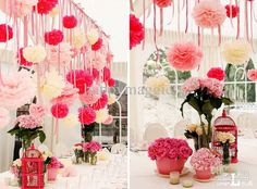 Wholesale Wedding Decorations - Buy Wedding Decorations Colorful 25cm Pom Flower Balls Tissue Paper Flower Wedding Favors Party Flower Ball ...
