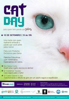 Um evento feito especialmente para #CatLovers, constuído por quem realmente entende de comportamento felino. E você, vai ficar de fora? Ainda dá tempo de participar! Vem pro #CatDay! https://www.facebook.com/events/328958747440237