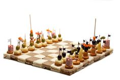 Chess Board appetizers - great for a game night