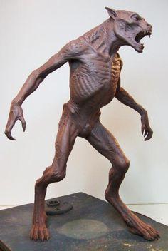 Underworld guard - Underworld: Awakening By Steve Wang: 3d Model Character, Character Concept, Toy Art, Concept Art Alien, Sculptures, Lion Sculpture, Werewolf Art, Monster Design, Creature Concept
