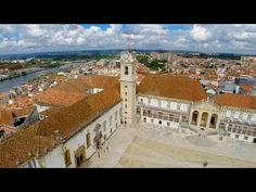 """Parque verde and Coimbra University flight - video via Portugal visto do Ceu 27.02.2015 