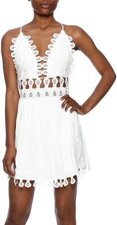 Honey Punch Crochet Cutout Dress