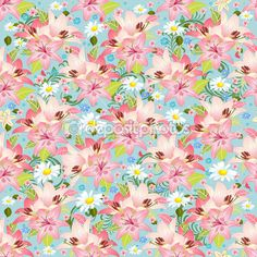 Beautiful floral seamless texture — Stock Illustration #27485013
