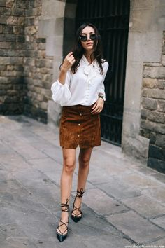 bow blouse - lace up flats | the fashion cuisine