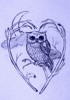 owl tattoo design i'd want a full moon with a snow/barn owl