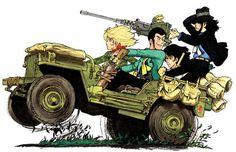 lupin the third Yasuo Otuka Manga Anime, Anime Art, Comic Kunst, Comic Art, Lupin The Third, Car Illustration, Another Anime, Animation, Car Drawings
