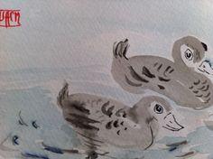 ducks...Chinese brush painting