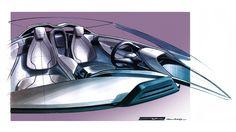 BMW i8 Concept Spyder - Interior Design Sketch