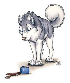 Monday morning disaster by TaniDaReal on deviantART....Id lick it up before its to late if I was the wolf