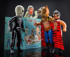 Skull Star is looking for trouble! Vintage Nakajima Tiger Mask (タイガーマスク) sofubis. by chogoman