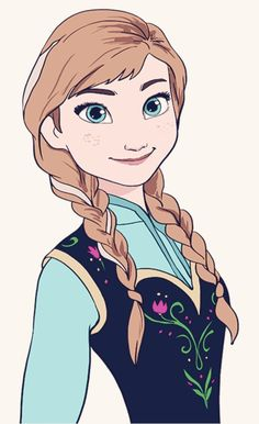 VERY EASY! How To Draw Disney Frozen Princess Anna Step By Step
