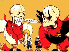 Underfell!Skelebros meet the Undertale!Skelebros