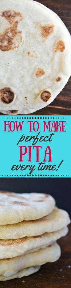 How to Make Perfect Pita Bread Every Time, it's easier than you think, and you'll never go back to the stuff in bags, guaranteed! Homemade Pita Bread, Vegetarian Recipes, Cooking Recipes, Vegan Bread, Vegan Pizza, Greek Dishes, Vegan Appetizers, Greek Recipes, Egyptian Recipes