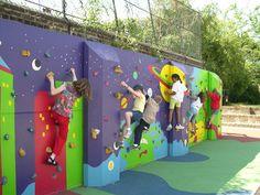 I love the idea of climbing across a mural
