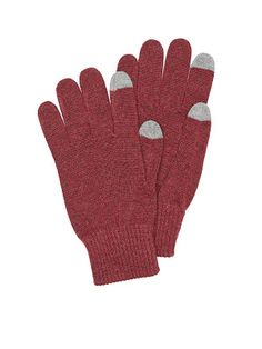 Perry Ellis Knit Solid Glove