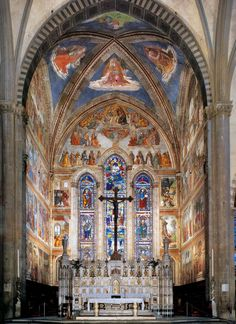 Ghirlandaio - Fresky v kostele Santa Mária Novella ve Florencii (1485-1490)