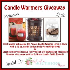 Candle Warmers Giveaway! 07/17