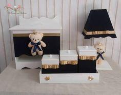 Resultado de imagem para kit infantil para quarto de bebe mdf dourado
