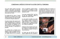 Condenan a médico por mutilación genital femenina #Egipto #DíaInternacionaldeToleranciaCeroMutilaciónGenitalFemenina  nota publicada en el número de Febrero de Revista 400 @400revista #Revista400 #DesarrolloSustentable