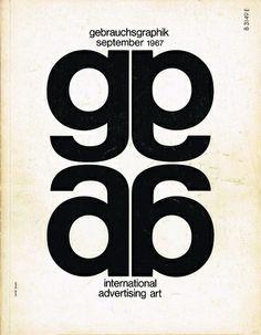 Gebrauchsgraphik/Novum Design magazine, September 1967