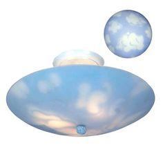 Clouds Flush Mount Kids Ceiling Light Fixture