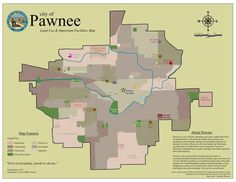 This town map of Parks & Recreation's Pawnee. | 19 Maps That Will Change How You See Your Favourite Fictional Worlds