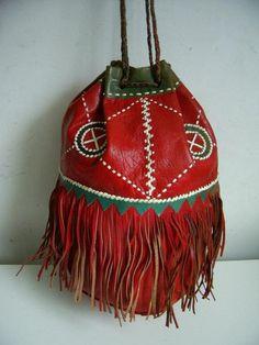 Beautiful Vintage 70s Etnic Navajo Handmade Red door BirkyVintage, $39.00