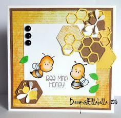 CardsundMore, Honey, Bee, Magnolia Dies, CCDesigns