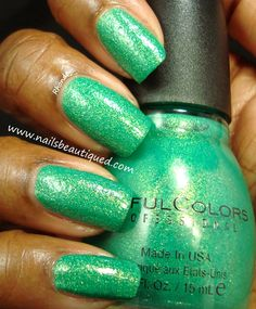 SinfulColors Crystal Crushes Collection, Emerald Envy-Topcoated | Nails Beautiqued