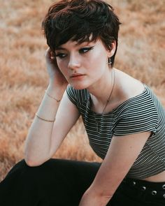 fool for the taking jjdemir Pixie Haircut, Hairstyles Haircuts, Down Hairstyles, Tomboy Haircut, Girl Short Hair, Short Hair Cuts, Short Hair Styles, Hair Inspo, Hair Inspiration