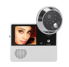 2.4 Inch 0.3 Mega-Pixels Video Door Phone 120 Degree View Angle 32 Music Optional Peephole Viewer