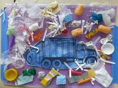 I LOVE this Garbage Truck Collage Craft for #Kids over at @Georgina Bomer. A Little boy's dream craft, right?! #kidscrafts #trucks