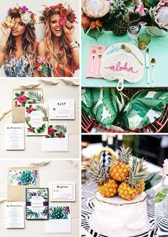 Vous cherchez un thème vivant et festif? Pourquoi pas le thème: Tropical (et exotique) ? Parfait pour l'été (et encore plus parfait si il y a la plage à coté) ce thème fera plonger vos invité…